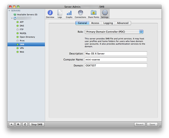 Using Mac OS X Server as a PDC